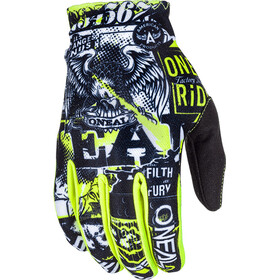 ONeal Matrix Gloves Youth ATTACK black/neon yellow
